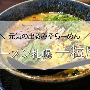 一粒庵/札幌駅/栄養満点でおいしい「元気の出るみそラーメン」