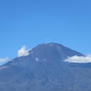 台風一過の朝、富士山を撮りに