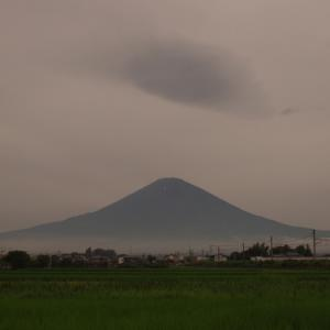 梅雨明けはいつ? 梅雨空に富士山が見えた