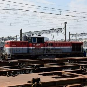 大阪貨物ターミナル この日から新しい入換機で作業開始です。(R2.6.16)