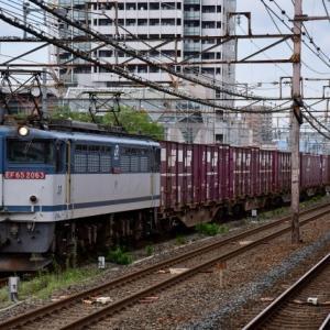 更新色EF65が牽引する75レ貨物列車撮影の巻(R2.6.28)