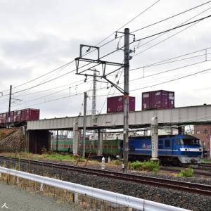 4070レ&55レ貨物列車のクロスを狙っての撮影です。(R3.9.15)