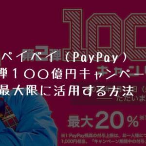 ペイペイ(PayPay)第2弾100億円キャンペーンを最大限に活用するには?