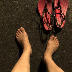 裸足を試してみる