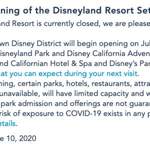新型コロナウィルス:Disneylandも再開!