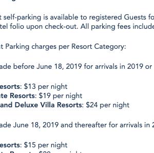 WDW 駐車場代が 2019年6月18日以降、またもや値上がり!?