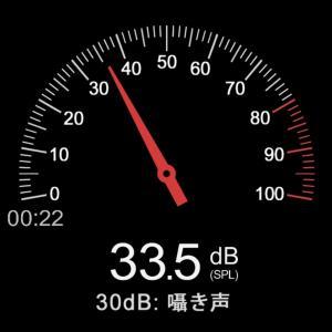 Androidアプリ「騒音測定器」でダーツボードの騒音をチェック
