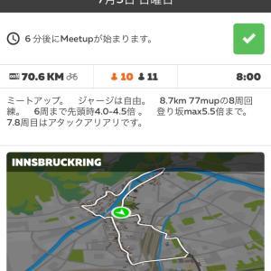 三味線レーシング zwiftミートアップ(Innsbruckring )07/05