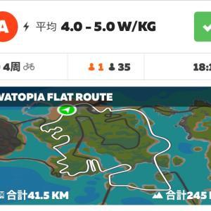 6/14 zwiftレース (watpia FLAT 4周)