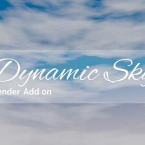 【blender2.8】簡単に空を生成してくれるblenderアドオンDynamic Skyが便利