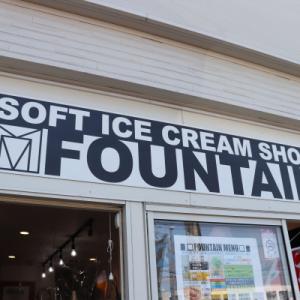 三井アウトレットでお買い物とFOUNTAINさんのソフトクリーム