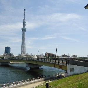 隅田川沿いから浅草へ