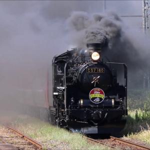爆煙!黄金色の稲穂と共演!!『8226レ SLばんえつ物語号』【C57形蒸気機関車180号機】-Steam Locomotive-