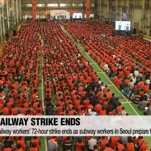 Railway workers' 72-hour strike ends as subway workers in Seoul prepare for second protest