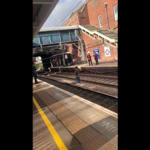 Heart-stopping moment man on track jumps to safety at last second at station in Essex, UK