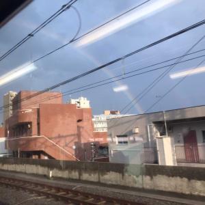 雨上がりの虹!