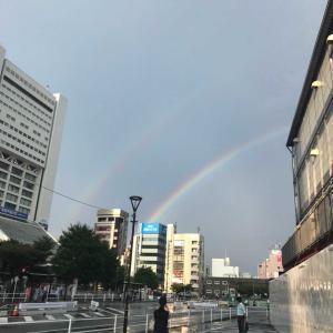 きれいな二本の虹!