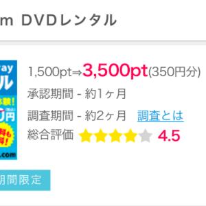 【ポイントインカム】DMM.com DVDレンタル利用で350円獲得!