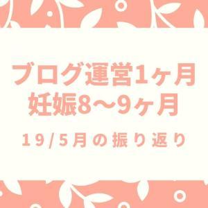 【ブログ運営1ヶ月】【妊娠後期】19/5月の振り返り