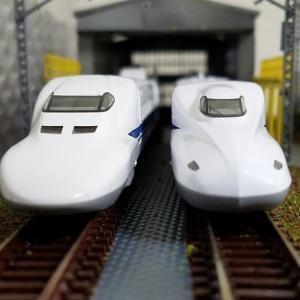 鉄道模型  700系とN700系
