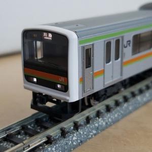 鉄道模型 209系3000番台、入線