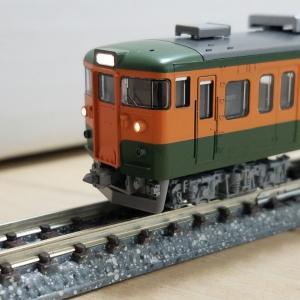 鉄道模型 115系2000番台JR東海仕様 入線