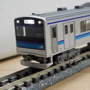 鉄道模型 KATOの205系3100番台仙石線色入線