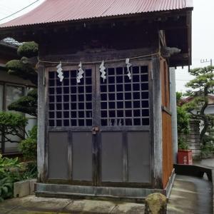 「横内八坂神社」(平塚市横内)