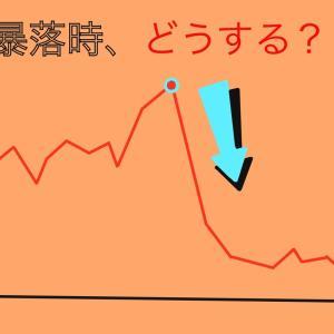 【投資】暴落時、僕たちはどう乗り切ればいいのか?