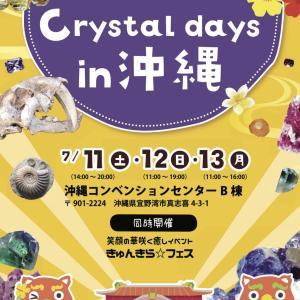 沖縄県、年に一度のパワーストーン、化石、天然石等の展示販売に参加