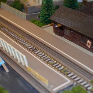 Nゲージ レイアウト製作 ローカル駅の設備追加(^^)