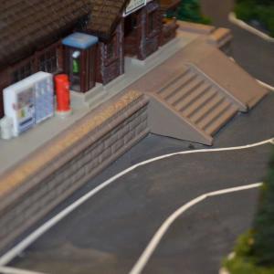 Nゲージ レイアウト製作 ローカル駅にバス停設置(^^)