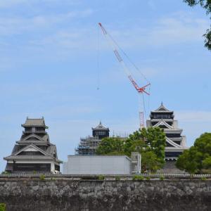 熊本城久々にみてきました。特別見学通路こと空中回廊(*^。^*)