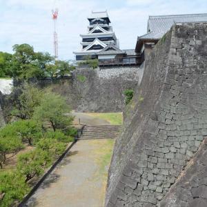 熊本城見学 空中回廊からの眺め