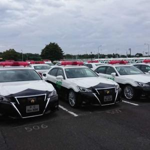中央研修所にはパトカーもいっぱいです。