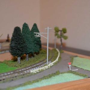 Nゲージジオラマ製作 木々や道路をちょっと整備しました。