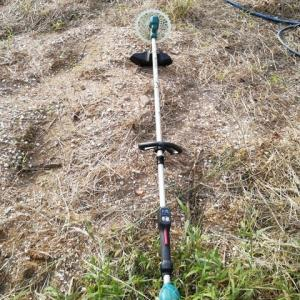 4連休 お天気でよかったですね 草刈り機も活躍しました