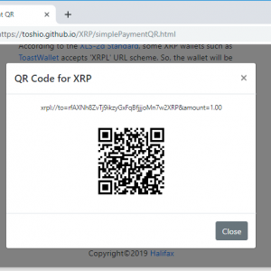 QR Code for Simple XRP Payment