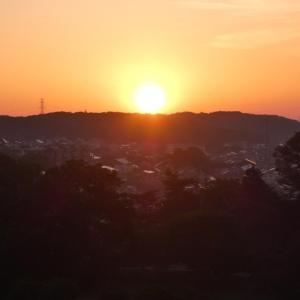 ☆彡 八国山からのぼる太陽 ☆彡