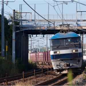 金曜日には定番の貨物列車撮影を!
