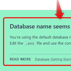 LaravelでDatabase name seems incorrectエラーの対処法