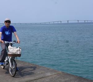 宮古島、伊良部大橋を自転車で渡る…写真20枚をHPにアップ!