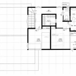 二階フロアープラン(2軒目の新築)