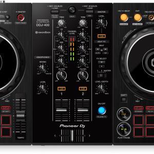 「DDJ-400」Pioneer DJのrekordbox dj専用コントローラーのエントリーモデル。興味があったら買えばいいってくらいリーズナブル。