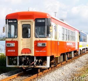 甘木鉄道でのウォーキング開催で