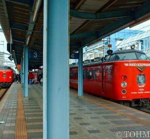16年前、宮崎駅にて。