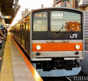 武蔵野線の205系に乗れた。