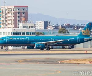 VN-A322の尾翼が・・・。