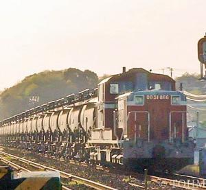18年前、へいちくにてセメント返空列車