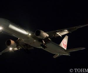 JL6773便で77W・JA737Jが飛来